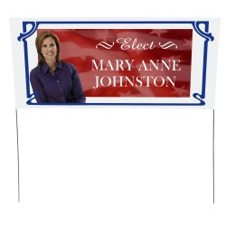 View a larger, more detailed picture of the Plastic Sheeting Yard Sign - 16 x 36