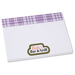 View a larger, more detailed picture of the Bic Sticky Note - Designer - 3x4 - Plaid - 50 Sheet