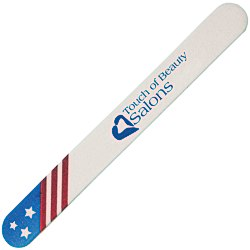 View a larger, more detailed picture of the Patriotic Emery Board