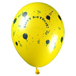 View a larger, more detailed picture of the Balloon - 11 Standard Colors - Happy Birthday