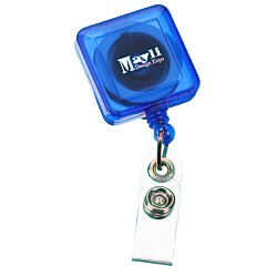 View a larger, more detailed picture of the Economy Retractable Badge Holder - SQ - Translucent - 24 hr