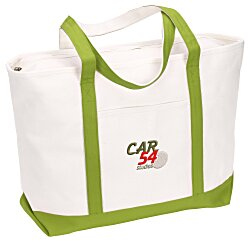 View a larger, more detailed picture of the Large Heavyweight Cotton Canvas Boat Tote - Embroidered