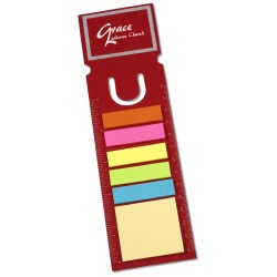 View a larger, more detailed picture of the Bookmark Ruler w Note and Flag Set - Rectangle