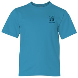 View a larger, more detailed picture of the Anvil 4 5 oz Ringspun Fashion-Fit T-Shirt - Youth - Colors