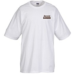 View a larger, more detailed picture of the Gildan Tall 6 1 oz Cotton T-Shirt - Men s - White