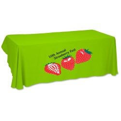 View a larger, more detailed picture of the Economy Open-Back Polyester Table Throw - 6 - Heat Transfer