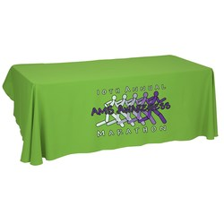 View a larger, more detailed picture of the Economy Open-Back Polyester Table Throw - 8 - Heat Transfer