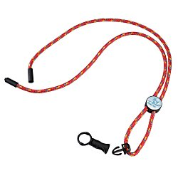 View a larger, more detailed picture of the Nylon Power Cord Lanyard - Round - Multi