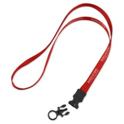 View a larger, more detailed picture of the Woven Polypropylene Lanyard w Buckle Release-1 2 -34 Length