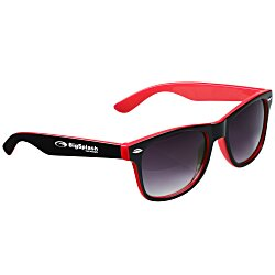 View a larger, more detailed picture of the Risky Business Sunglasses - Two Tone - 24 hr