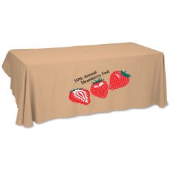 View a larger, more detailed picture of the Economy Open-Back Poly Table Throw-6 - Heat Transfer - 24 hr