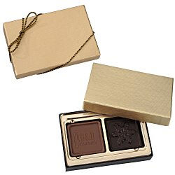 View a larger, more detailed picture of the Molded Chocolate Squares - 2 Pieces