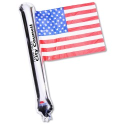 View a larger, more detailed picture of the Rally Flag Balloon - USA Flag - Closeout