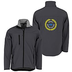 View a larger, more detailed picture of the Port Authority Soft Shell Jacket - Men s - Back Emb