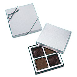 View a larger, more detailed picture of the Molded Chocolate Squares - 4 Pieces
