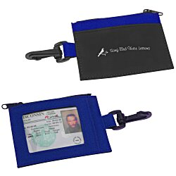 View a larger, more detailed picture of the Zip Pouch ID Holder - Colors