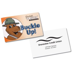 View a larger, more detailed picture of the Pocket Poster - Buckle Up - Closeout
