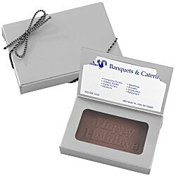View a larger, more detailed picture of the Business Card Chocolate Treat - Happy Holidays
