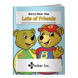 View a larger, more detailed picture of the Barry Bear Has Lots of Friends Coloring Book - Overstock