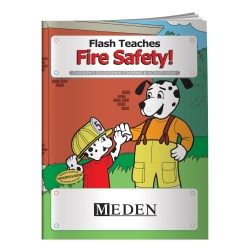 View a larger, more detailed picture of the Flash Teaches Fire Safety Coloring Book - Overstock
