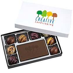 View a larger, more detailed picture of the Truffles & Chocolate Bar - 8 Pieces - Full Color