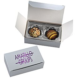 View a larger, more detailed picture of the Truffles - 2 Pieces - Silver Box