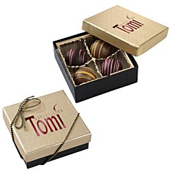 View a larger, more detailed picture of the Truffles - 4 Pieces - Gold Box