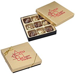 View a larger, more detailed picture of the Truffles - 9 Pieces - Gold Box