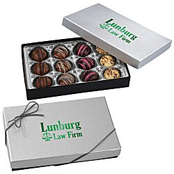 View a larger, more detailed picture of the Truffles - 12 Pieces - Silver Box