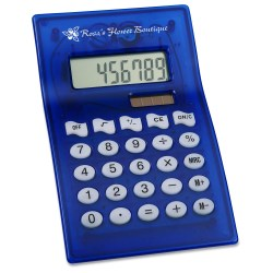 View a larger, more detailed picture of the Dual Power Curvaceous Calculator - Closeout