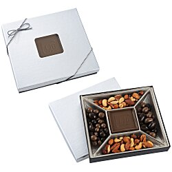 View a larger, more detailed picture of the Treat Mix - 10 oz - Silver Box - Milk Chocolate Bar