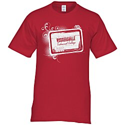 View a larger, more detailed picture of the Hanes Tagless T-Shirt - Screen - Colors - Tech Design