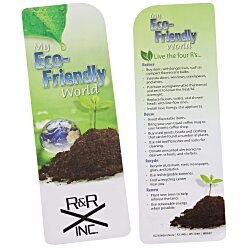 View a larger, more detailed picture of the Just the Facts Bookmark - Eco-Friendly - 24 hr