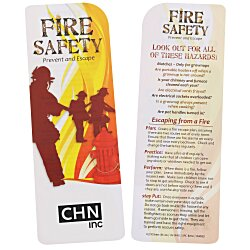 View a larger, more detailed picture of the Just the Facts Bookmark - Fire Safety - 24 hr