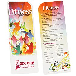 View a larger, more detailed picture of the Just the Facts Bookmark - Fitness For Me - 24 hr