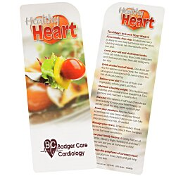 View a larger, more detailed picture of the Just the Facts Bookmark - Healthy Heart - 24 hr