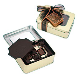 View a larger, more detailed picture of the Dark Chocolate Box w Chocolate Bites - Small