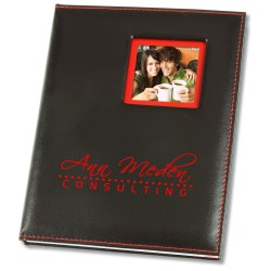 View a larger, more detailed picture of the Color Edge Photo Frame Journal - Closeout