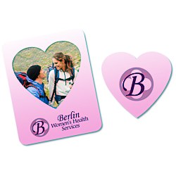 View a larger, more detailed picture of the Bic Magnetic Photo Frame - Heart - 24 hr