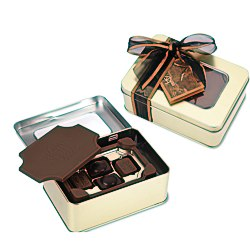 View a larger, more detailed picture of the Milk Chocolate Box w Chocolate Bites - Small