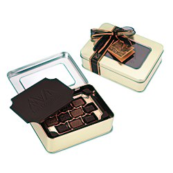 View a larger, more detailed picture of the Dark Chocolate Box w Chocolate Bites - Large