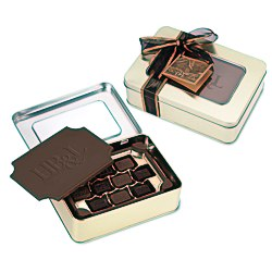 View a larger, more detailed picture of the Milk Chocolate Box w Chocolate Bites - Large
