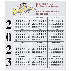 View a larger, more detailed picture of the Bic 20 mil Calendar Magnet - Small - 24 hr