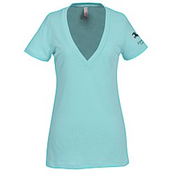 View a larger, more detailed picture of the Next Level Tri-Blend Deep V-Neck T-Shirt - Ladies - Colors