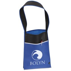View a larger, more detailed picture of the Polypropylene Contrast Vertical Tote - Closeout