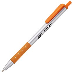 View a larger, more detailed picture of the Value Grip Click Pen - Silver - 24 hr