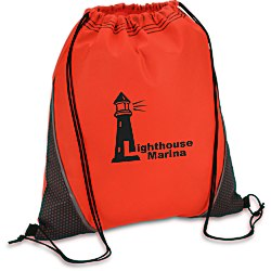 View a larger, more detailed picture of the Hexagon Print Drawstring Sportpack - 24 hr