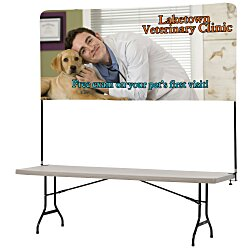View a larger, more detailed picture of the Tabletop Banner System w Back Wall - 8