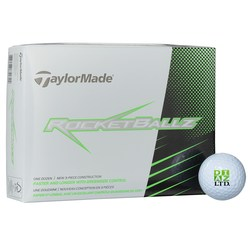 View a larger, more detailed picture of the Taylormade Rocketballz Golf Ball - Dozen - Standard