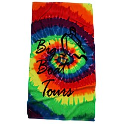 View a larger, more detailed picture of the Tie Dye Beach Towel - Swirl